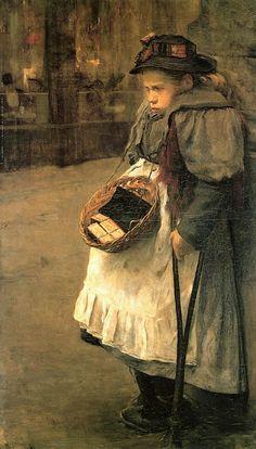 Match Girl by Pieter Florentius Arntzenius (Dutch 1864 –  1925)