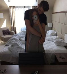 bed, boy, couple, cuddle, cute, cute couples, girl, goals, hug, i phone, kiss, love, man, mirror, passion, romance, room, selfie, sweet, tumblr, woman, First Set on Favim.com