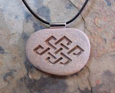 Natural River Rock Engraved with Tibetan Love by EarthStoneArt, $15.00