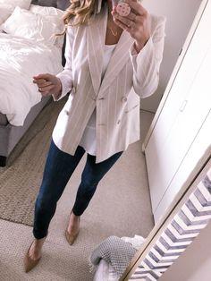 d2a5a7e057 11 Great Beige blazer outfit images