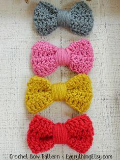 DIY: crochet bow pattern / Faça você mesmo: laço de crochê