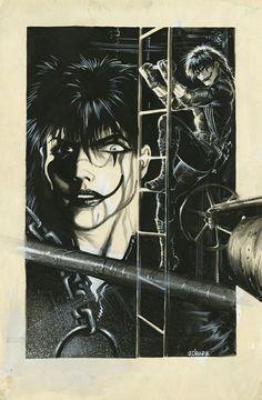 The Crow Brandon Lee, Dark Comics, Marvel Comics, 4 And 20 Blackbirds, Crow Movie, Sketchbook Cover, Goth Art, Comic Art, Comic Books