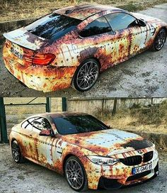 This is a crazy cool paint job on this BMW!