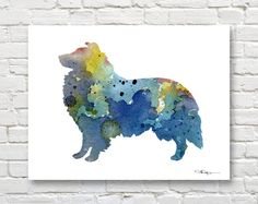 Hey, I found this really awesome Etsy listing at https://www.etsy.com/listing/242014892/blue-sheltie-art-print-abstract-shetland