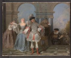 Antoine Watteau | The French ComediansbyAntoine Watteau (French, Valenciennes 1684–1721 Nogent-sur-Marne)