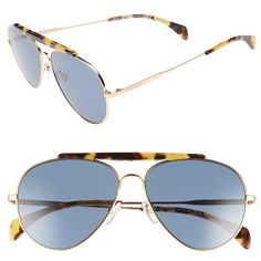 Women's Tommy Hilfiger 58Mm Aviator Sunglasses (2,905 EGP) ❤ liked on Polyvore featuring accessories, eyewear, sunglasses, rose gold, tommy hilfiger sunglasses, dark lens sunglasses, aviator style sunglasses, tommy hilfiger glasses and tommy hilfiger eyewear
