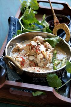 Murgh Badami: Curried Chicken in Almond Sauce