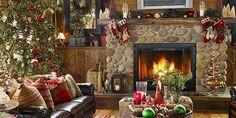 Decoração de Casa Natalina com Lareira