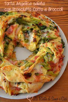 Torta Angelica salata con Prosciutto Cotto e Broccoli