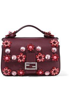 1157e6968f68 Fendi - Double Baguette micro appliquéd leather shoulder bag