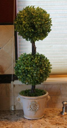 Southern Seazons: Kitchen topiary makeover