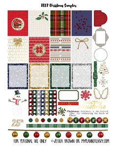 FREE Printable Christmas Stickers for Happy Planner and the Erin Condren Life… Free Planner, Happy Planner, Planner Ideas, Printable Planner Stickers, Mambi Stickers, Free Stickers, Freebies, Free Christmas Printables, Free Printables
