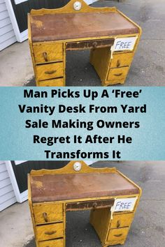 #Man Picks Up A 'Free' #Vanity Desk From #Yard Sale Making Owners #Regret It After He #Transforms It Funny Prank Videos, Funny Pranks, Vanity Desk, Smoke Pictures, Funny Pictures, Cute Funny Babies, Bride Nails, Yard Sale, Dance Videos