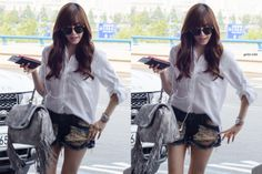 SNSD Tiffany airport fashion 140618