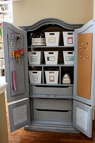 Use Armoire For Craft Storage   Will Be Doing This With Armoire Tv Armoire,  Craft