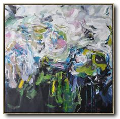 Abstract Flower Oil Painting #LX55A #Abstract #Artists_Lin-Xiang #flower-oil-painting