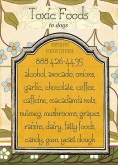 Dog Pet Safety - Fridge Magnet - Keep our pets safe toxicity chart ASPCA Pet Poison Control - 5 x 7 - home decor - Fridge Magnet
