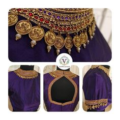 That Cadbury shade though.Hearting it to bits! Stunning blue color designer blou… That Cadbury shade though.Hearting it to bits! Stunning blue color designer blouse with jewellery theme hand embroidery work on neckline and sleeves. Brocade Blouse Designs, Kids Blouse Designs, Pattu Saree Blouse Designs, Bridal Blouse Designs, Blouse Patterns, Sari Design, Kids Dress Wear, Stylish Blouse Design, Pretty Designs