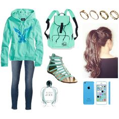 School Blues by sarah-jakel on Polyvore featuring polyvore, fashion, style, American Eagle Outfitters, Frame Denim, ASOS and Giorgio Armani