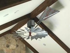 Windmill Ceiling Fan - Windmill Ceiling Fans of Texas Distillery, Brewery, Windmill Ceiling Fan, Outdoor Fans, The Ranch, Remodeling Ideas, Man Cave, Photo Galleries, Rustic