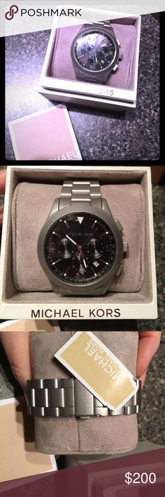 96dbffbfdb74 Auth Michael Kors Men s Watch Men s Style Party Host You Becca Please feel  free to ask Michael Kors Accessories Watches
