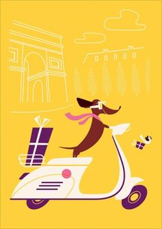 Card line by Lab Partners featuring a lovable Daschund named Monsieur Boudin