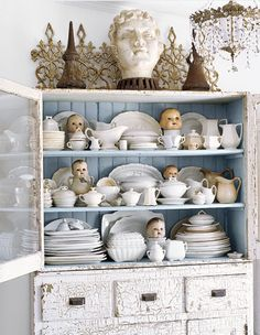 china hutch brimming with character its the charming home of a southern decorator showcasing Mobile home upscale living!