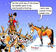 Ninth Day of Christmas Fergus Equestrian Quotes, Equestrian Problems, Funny Horses, Funny Animals, Christmas Horses, Christmas Ideas, Horse Quotes, Horse Sayings, Animal Humour