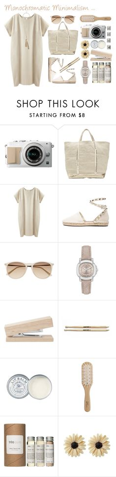 """Monochromatic Minimalism"" by beautyscoop ❤ liked on Polyvore featuring Vanessa Bruno Athé, La Garçonne Moderne, Valentino, Witchery, Burberry, Jack Wills, Philip Kingsley, Très Pure, Rock 'N Rose and GUESS"