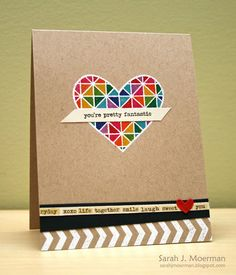 Just Adore this card created by Sarah Moerman using the October 2015 card kit by Simon Says Stamp.