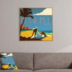 Anderson Design Group Miami Framed Wall Art | DENY Designs Home Accessories