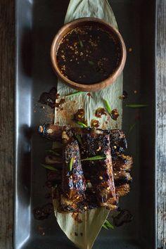 Bulgogi lamb ribs (He Needs Food) Lamb Recipes, Meat Recipes, Asian Recipes, Chinese Recipes, Bbq Lamb, Lamb Ribs, Barbacoa, Chicken Lentil, Asian Bbq