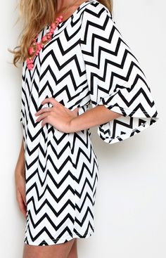 black and white chevron-- LOVE this pattern and the colors together