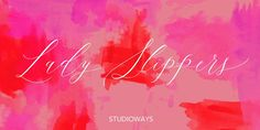 Lady Slippers, font by Studioways. Lady Slippers can be purchased as a desktop and a web font. Great Fonts, Cool Fonts, New Fonts, Font Shop, Script Typeface, Font Face, Type Setting, Premium Fonts, Modern Calligraphy