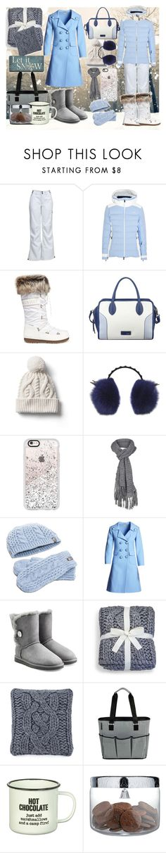 """""""Winter wonderland"""" by colourlover24 ❤ liked on Polyvore featuring KJUS, Moon Boot, Nine West, Gap, MCM, Casetify, prAna, The North Face, Michael Kors and UGG"""