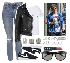 """""""Los Angeles with Louis."""" by welove1 ❤ liked on Polyvore featuring Topshop, NIKE, MANGO, Acne Studios and Yves Saint Laurent"""