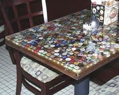 Mancave Epoxy Bar Top Made With Beer Labels Coasters