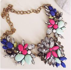 Add a touch of colour to your outfit with our Gabriella chunky necklace   www.cherrydiva.co.uk
