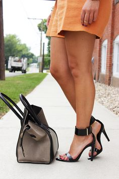 The strappy heel is the classic shoe for summer! Love.