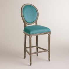 WorldMarket.com: Peacock Paige Barstool, they also have linen and charcoal grey...barstool area? Need 2 of them.
