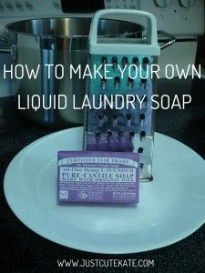 DIY LIQUID LAUNDRY SOAP WITH DR. BRONNER'S  JUST CUTE KATE