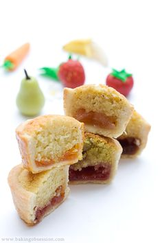 """Bakewell Mini Tarts Slices with homemade JAMS...can also make it into a 9"""" TART"""