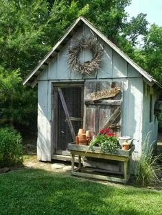 This would be so cute as a chicken shed.. Discover How To Easily Build An Attractive And Affordable Backyard Chicken Coop... http://building-achickencoop.blogspot.com?prod=wt10G5Xl #shedtypes #buildingagardenshed