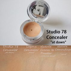 """der Studio 78 Concealer in der helleren Nuance """"at dawn"""" mit Swatches  #studio78paris #Naturkosmetik #alverde #logona #review"""