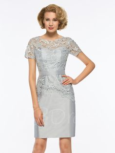 Tbdress.com offers high quality Scoop Neck Short Sleeves Lace Sheath Mother Of The Bride Dress under the category Latest Mother Dresses unit price of $ 117.99.