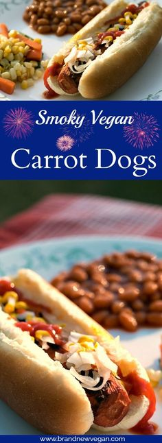 Smoky Vegan Carrot Dogs - Don't you just LOVE Summer Picnics where everyone is grilling? Because NOW you can take these HEALTHY dogs and join right in! | brandnewvegan.com