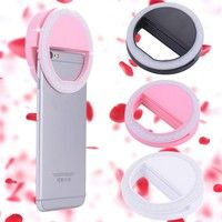 Wish | Portable Selfie LED Ring Flash Light Camera Photography For IPhone Mobile Phone