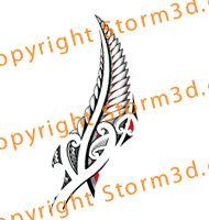 Traditonal Maori silverfern tattoo design with red elements Filipino Tribal Tattoos, Hawaiian Tribal Tattoos, Maori Tattoo Designs, Maori Tattoos, Borneo Tattoos, Hawaiian Tattoo Traditional, Maori Patterns, Fern Tattoo, Cross Tattoo For Men