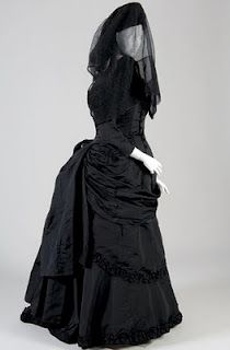 An 1874 #Mourning #Gown #Historical #fashions