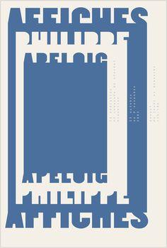 Affiches Philippe Apeloig Studio Philippe Apeloig, 2003. 120 × 175 cm. Sérigraphie, Dubois imagerie [source]